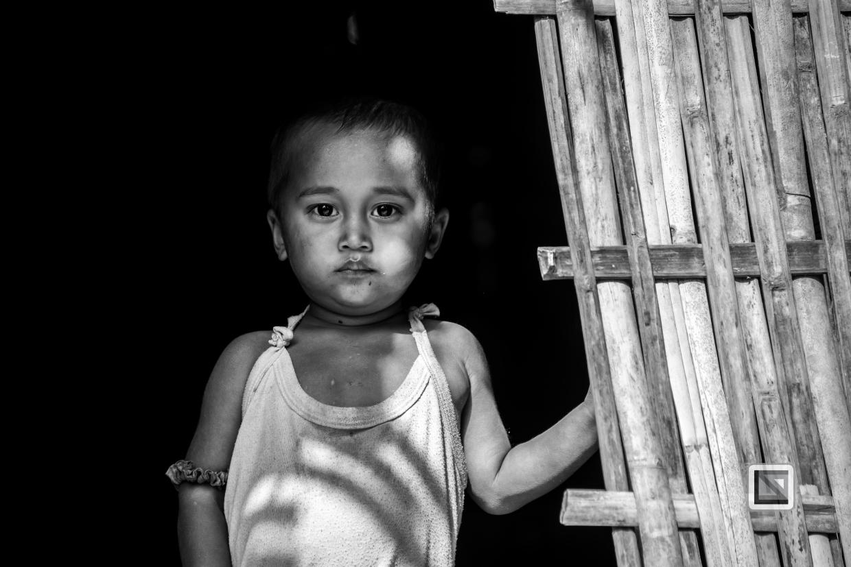 Myanmar Chin Tribe Portraits Black and White Mrauk-U-43