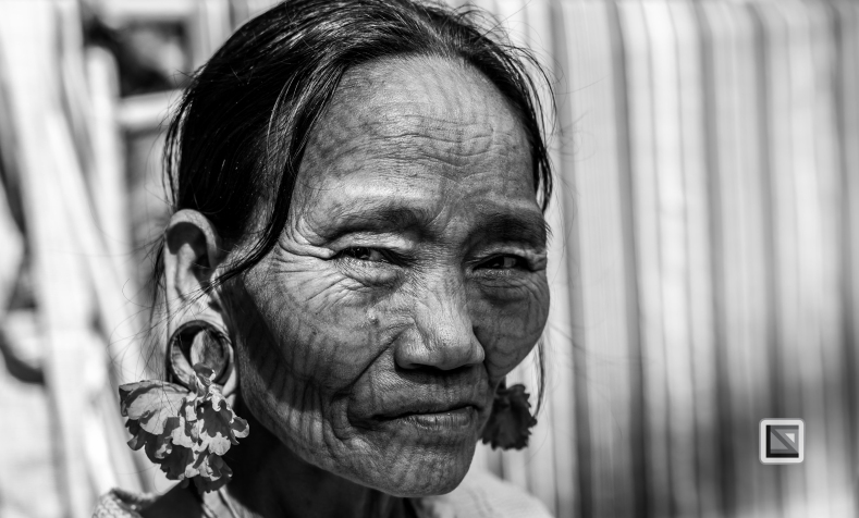 Myanmar Chin Tribe Portraits Black and White Mrauk-U-5