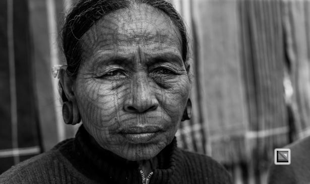 Myanmar Chin Tribe Portraits Black and White Mrauk-U-6