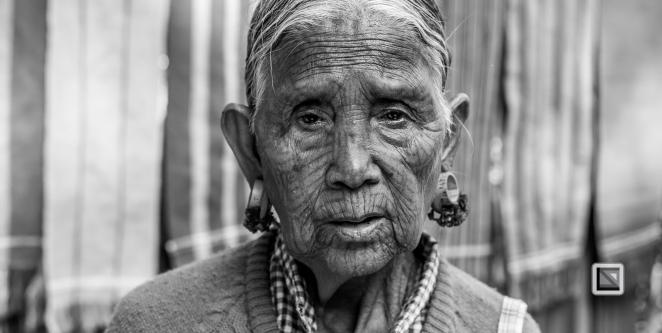 Myanmar Chin Tribe Portraits Black and White Mrauk-U-7