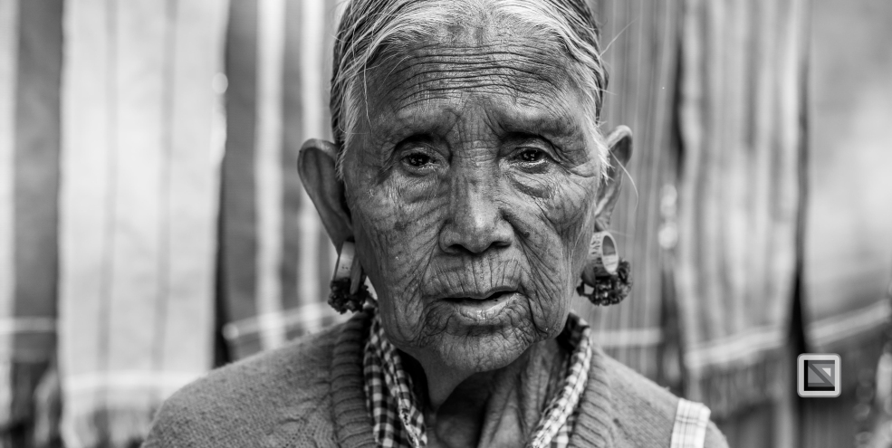 Myanmar Chin Tribe Portraits Black and White Mrauk-U-7