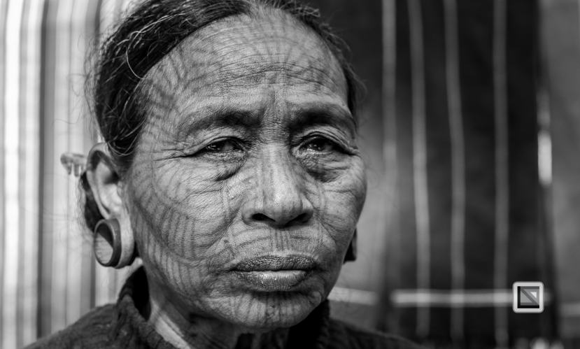 Myanmar Chin Tribe Portraits Black and White Mrauk-U-8