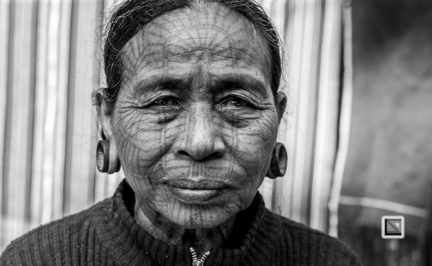 Myanmar Chin Tribe Portraits Black and White Mrauk-U-9