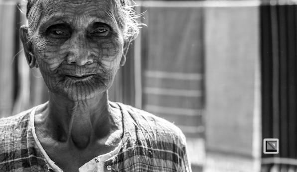 Myanmar Chin Tribe Portraits Black and White Mrauk-U