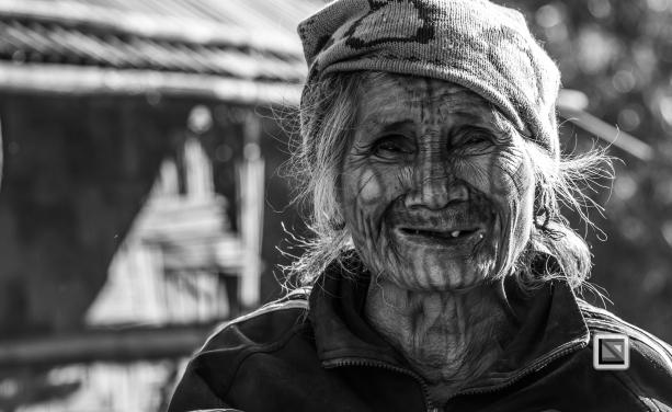 Myanmar Chin Tribe Portraits Black and White