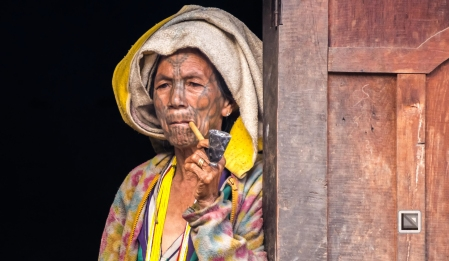 Myanmar Chin Tribe Portraits Color-3