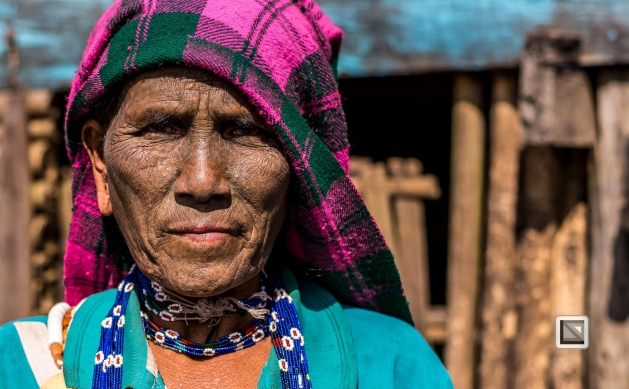Myanmar Chin Tribe Portraits Color-36