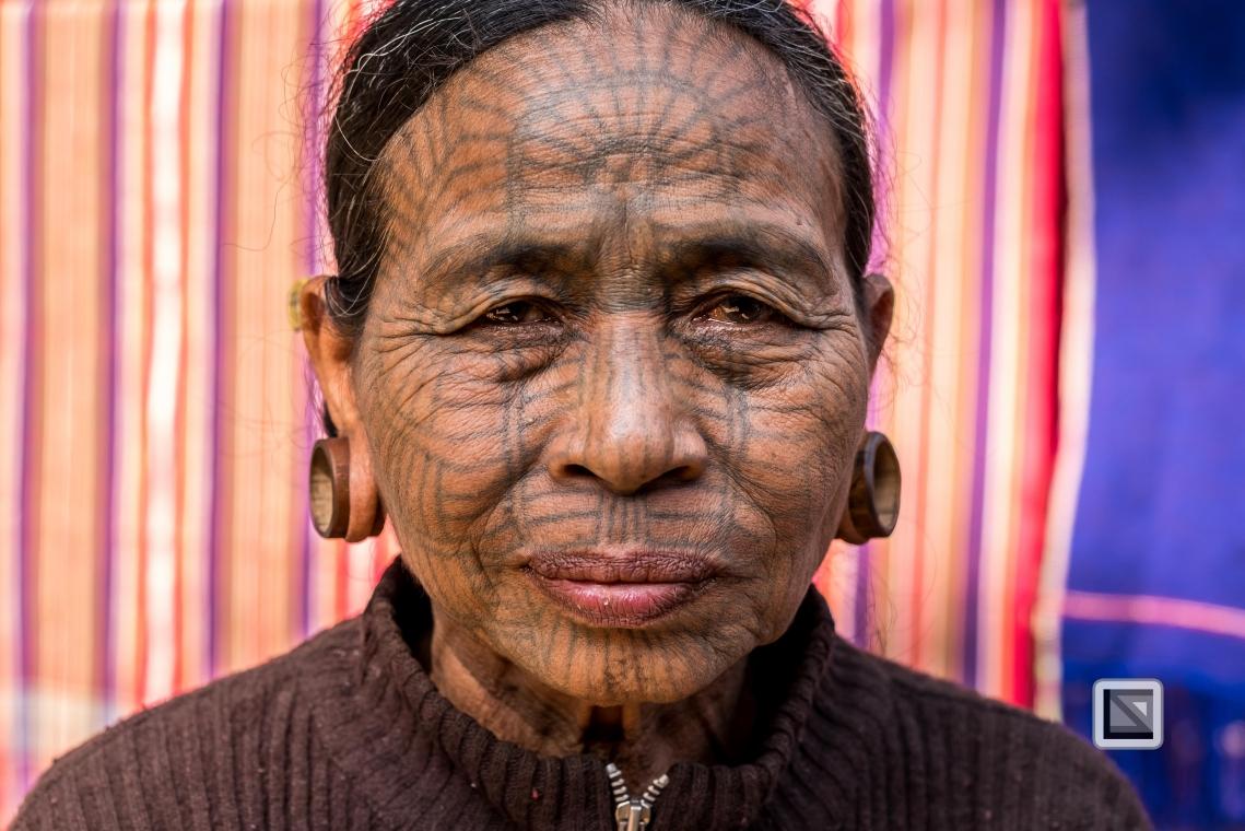 Myanmar Chin Tribe Portraits color Mrauk-U-15