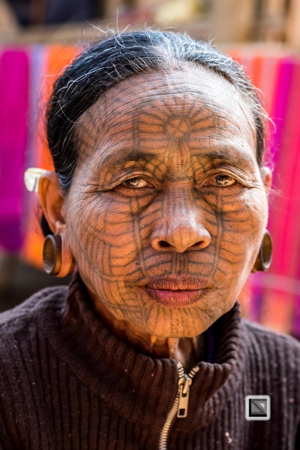 Myanmar Chin Tribe Portraits color Mrauk-U-2