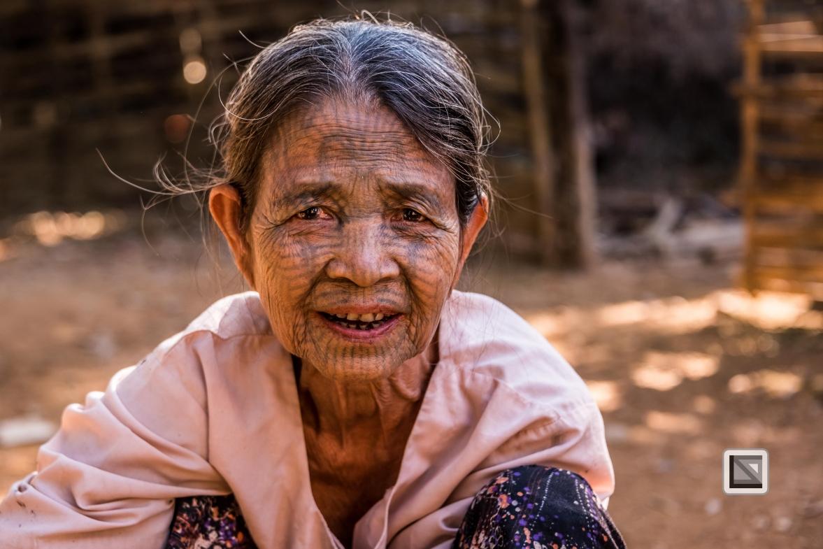 Myanmar Chin Tribe Portraits color Mrauk-U-25