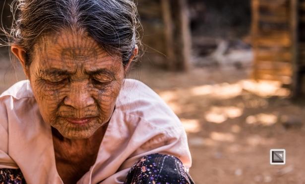 Myanmar Chin Tribe Portraits color Mrauk-U-26