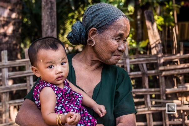 Myanmar Chin Tribe Portraits color Mrauk-U-28