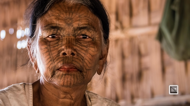 Myanmar Chin Tribe Portraits color Mrauk-U-34