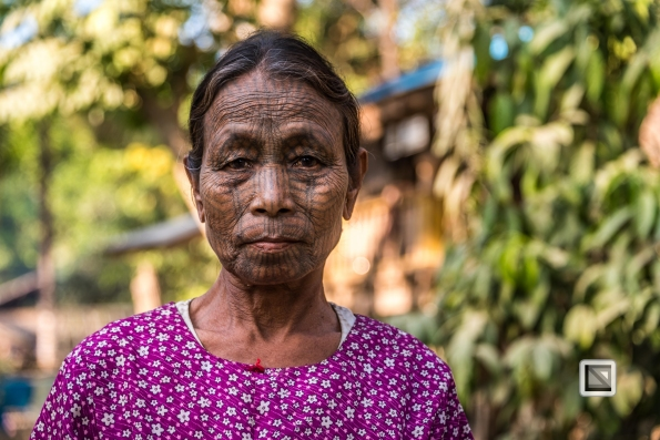 Myanmar Chin Tribe Portraits color Mrauk-U-36