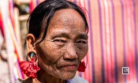 Myanmar Chin Tribe Portraits color Mrauk-U-8
