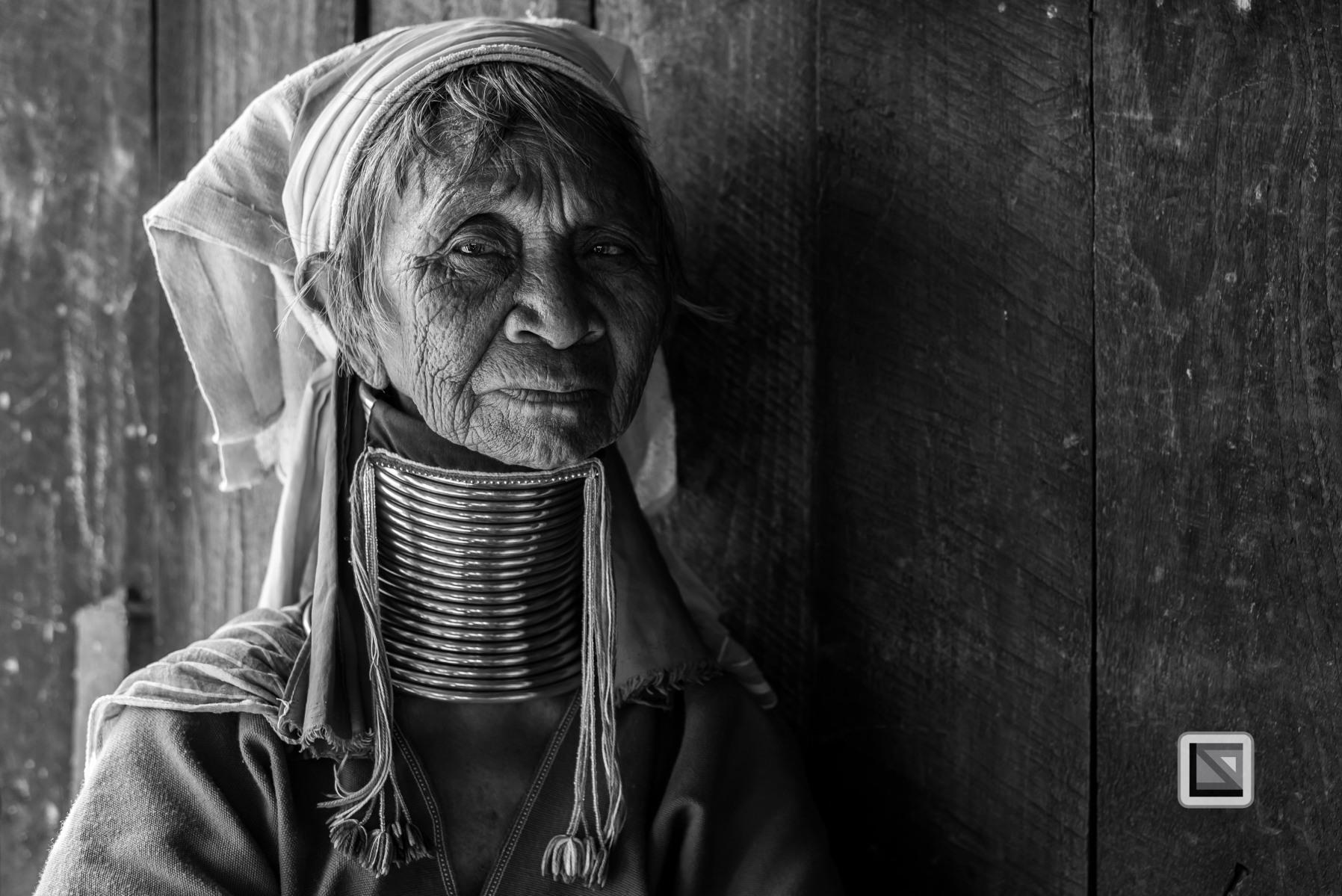 Padaung black n white portraits-30