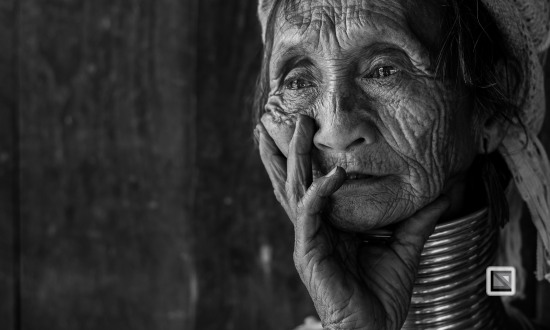 Padaung black n white portraits-34