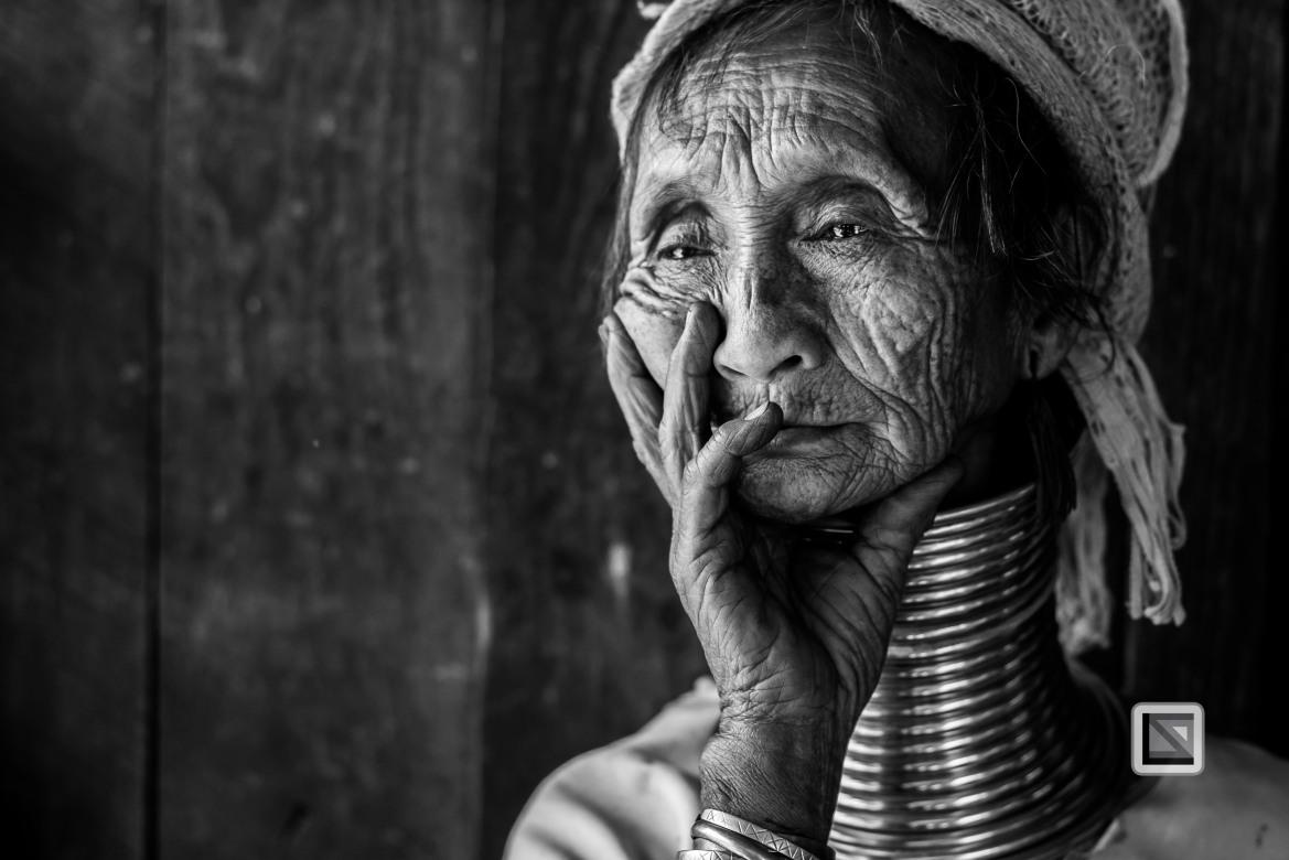 Padaung black n white portraits-35
