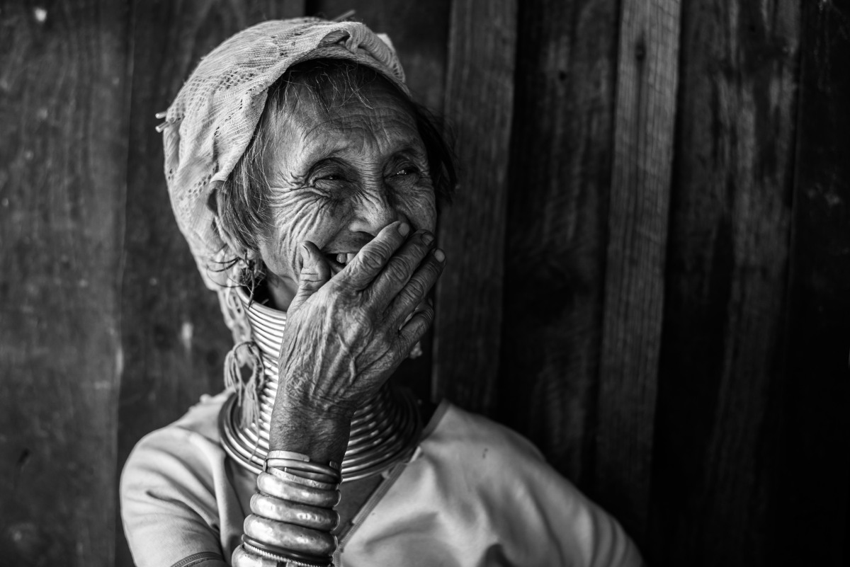 The Padaung (black and white portraits
