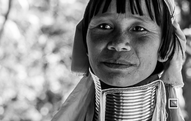 Padaung black n white portraits