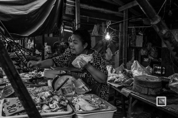 Maeklong Train Market Black and White-10