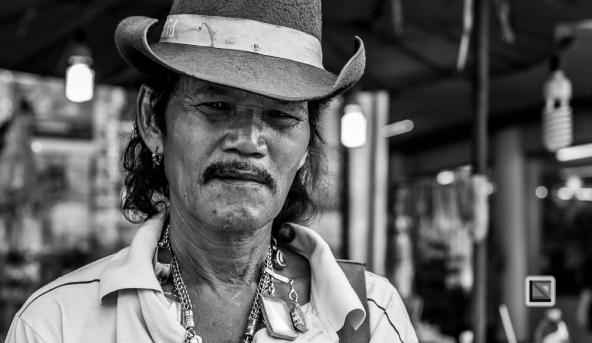 faces of asia -Bangkok black and white-46
