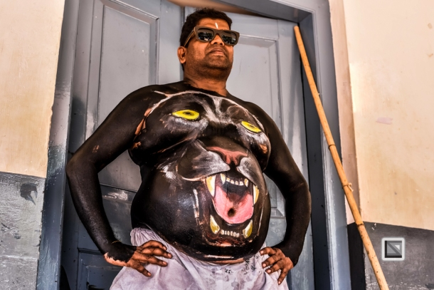 faces of asia -Pulikali Festival Thrissur Kerala 2015-28